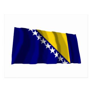 Bosnia and Herzegovina Waving Flag Postcard