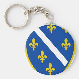 Bosnia Basic Round Button Keychain