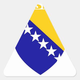 Bosnia Coat of Arms Triangle Sticker