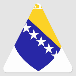 Bosnia Coat of Arms Triangle Stickers