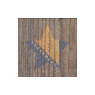 Bosnia+Estrella de la bandera de Herzegovina en el Imán De Piedra