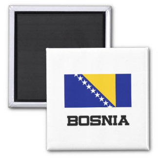 Bosnia Flag 2 Inch Square Magnet