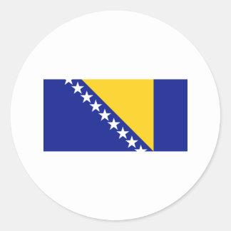 Bosnia FLAG International Classic Round Sticker