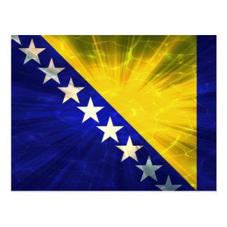 Bosnia Flag Postcard