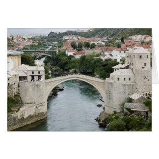 Bosnia-Hercegovina - Mostar. The Old Bridge Greeting Card