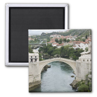 Bosnia-Hercegovina - Mostar. The Old Bridge 2 Inch Square Magnet