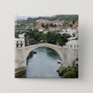 Bosnia-Hercegovina - Mostar. The Old Bridge Pinback Button