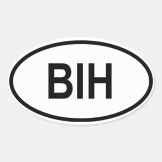 """Bosnia & Herzegovina """"BIH"""" Oval Sticker"""