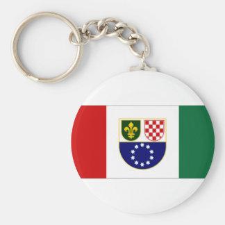 Bosnia Herzegovina BosniacCroat Federation Flag Key Chain