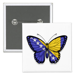 Bosnia Herzegovina Butterfly Flag Pin