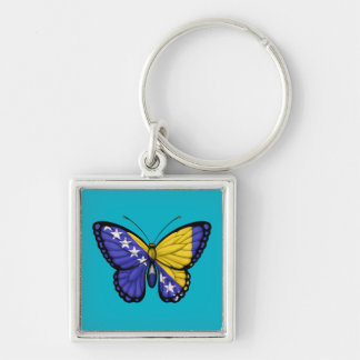 Bosnia Herzegovina Butterfly Flag Key Chain