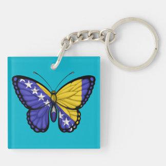 Bosnia Herzegovina Butterfly Flag Acrylic Key Chain