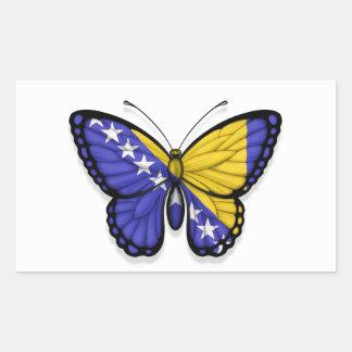 Bosnia Herzegovina Butterfly Flag Rectangular Sticker