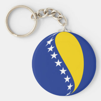 Bosnia Herzegovina Fisheye Flag Keychain