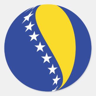 Bosnia Herzegovina Fisheye Flag Sticker