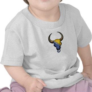 Bosnia-Herzegovina Flag Bull Skull Tshirt