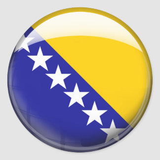 Bosnia Herzegovina Flag Classic Round Sticker
