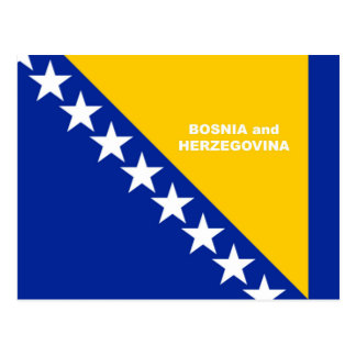 Bosnia-Herzegovina Flag custom design Postcard