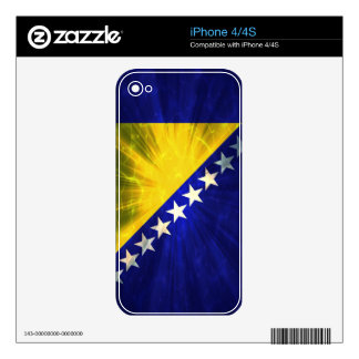 Bosnia Herzegovina Flag Decals For The iPhone 4