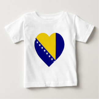 Bosnia & Herzegovina Flag Heart Baby T-Shirt