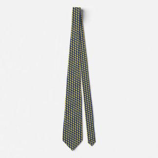 Bosnia Herzegovina Flag Honeycomb Tie
