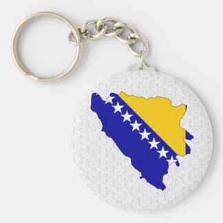 Bosnia Herzegovina Flag Map full size Keychains