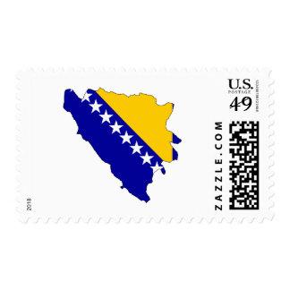 Bosnia Herzegovina flag map Postage Stamp