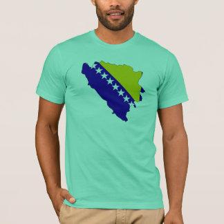 Bosnia Herzegovina flag map T-Shirt