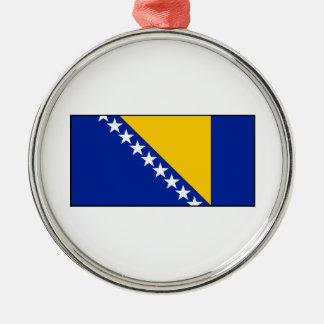 Bosnia & Herzegovina Flag Metal Ornament