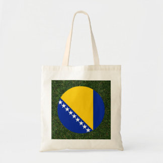 Bosnia Herzegovina Flag on Grass Tote Bag