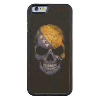Bosnia-Herzegovina Flag Skull on Black Carved® Maple iPhone 6 Bumper