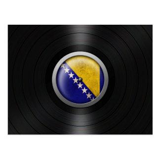 Bosnia - Herzegovina Flag Vinyl Record Album Graph Postcard