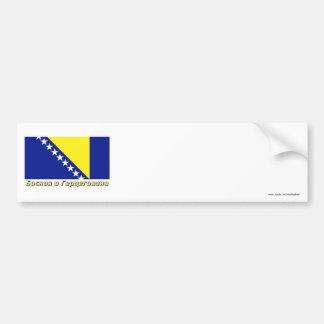 Bosnia & Herzegovina Flag with name in Russian Bumper Sticker