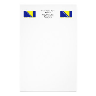 Bosnia & Herzegovina Flag with name in Russian Stationery