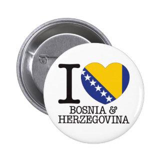 Bosnia Herzegovina Love v2 Pinback Button