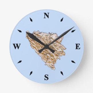 Bosnia Herzegovina Map Clock