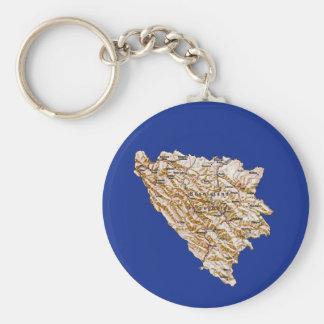 Bosnia Herzegovina Map Keychain