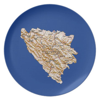 Bosnia Herzegovina Map Plate