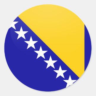 Bosnia Herzegovina quality Flag Circle Classic Round Sticker