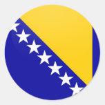 Bosnia Herzegovina quality Flag Circle Sticker
