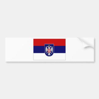 Bosnia Herzegovina Republika Srpska Flag Car Bumper Sticker