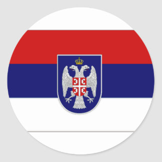 Bosnia Herzegovina Republika Srpska Flag Classic Round Sticker