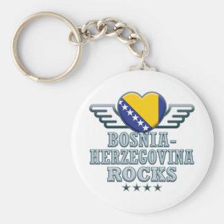 Bosnia-Herzegovina Rocks v2 Keychains