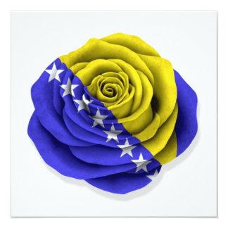 Bosnia Herzegovina Rose Flag on White Card