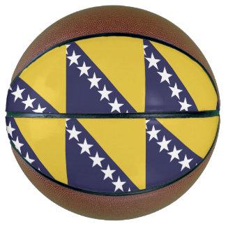 Bosnia Herzgovina Flag Basketball