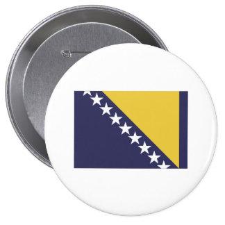 Bosnia Herzgovina Pin Redondo De 4 Pulgadas