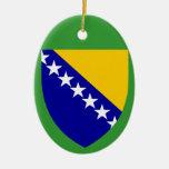 BOSNIA*- ornamento de cerámica del navidad Adorno Navideño Ovalado De Cerámica
