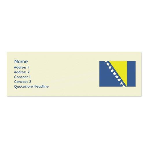 Bosnia Skinny Mini Business Card