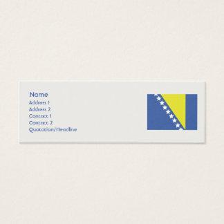 Bosnia - Skinny Mini Business Card