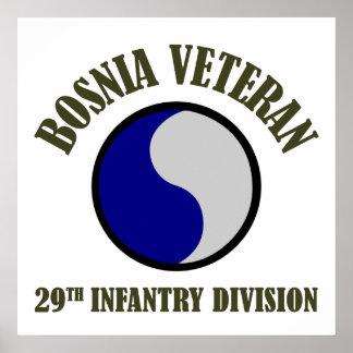 Bosnia Veteran - 29th ID Poster